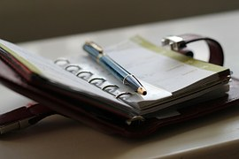 Agenda bij blog