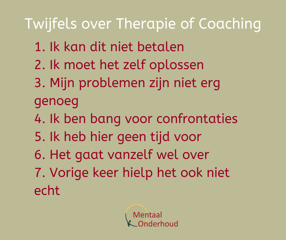 wel of niet in coaching of therapie?
